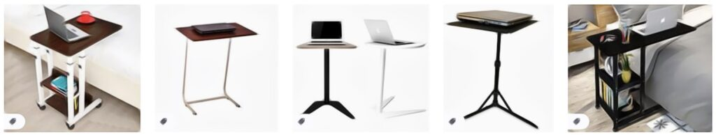 demonstrate laptop table options