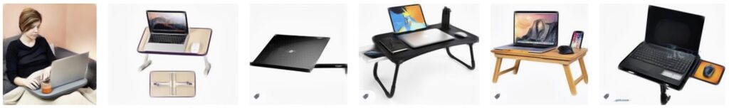demonstrate laptop tray options